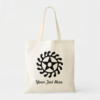 Sese Wo Soban Life Changes Symbol Black Tote Bag