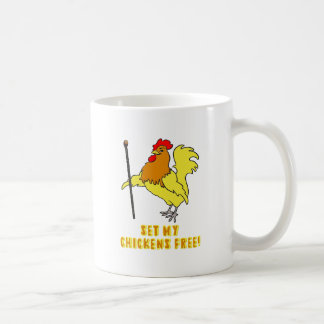 Set My Chickens Free -- Moses Rooster Coffee Mugs