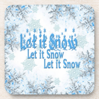 """Set of 6 """"Let it snow"""" Christmas Coasters"""