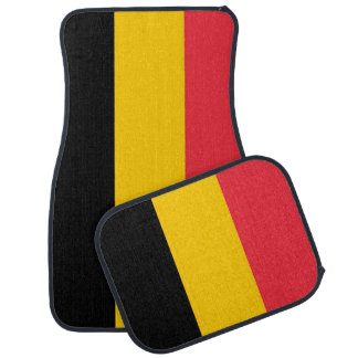 Set of car mats with Flag of Belgium