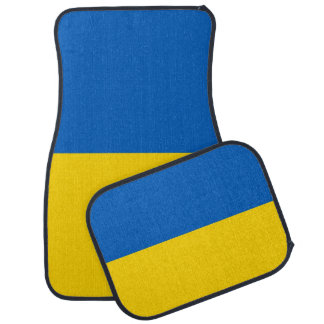 Set of car mats with Flag of Ukraine