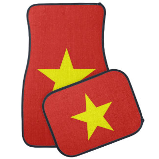 Set of car mats with Flag of Vietnam