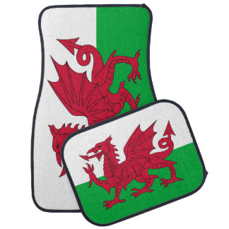 Set of car mats with Flag of Wales