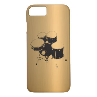 Set of Drums Bronze Copper Effect iPhone 7 Case