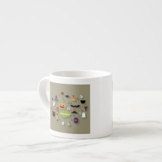 Set Of Halloween Icons Espresso Cup