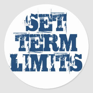 SET TERM LIMITS ROUND STICKER