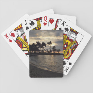 Setting Sun in Hawaii Poker Deck