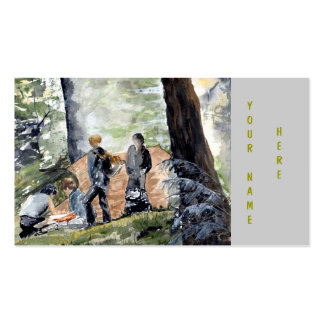 'Setting Up Camp' Business Card