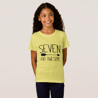 Seven And Awesome 7th Birthday Gift (Light) T-Shirt
