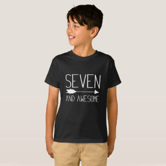 Seven And Awesome 7th Birthday Gift T-Shirt