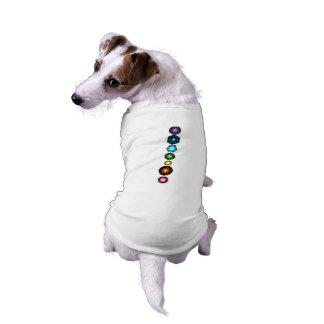 Seven Chakras Dog Shirt