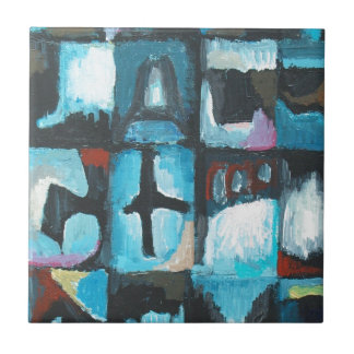 Seven Deadly Sins ( abstract symbolism art) Small Square Tile