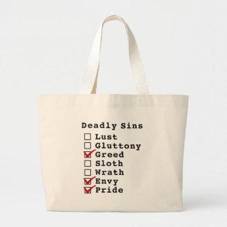 Seven Deadly Sins Checklist (0010011) Bag
