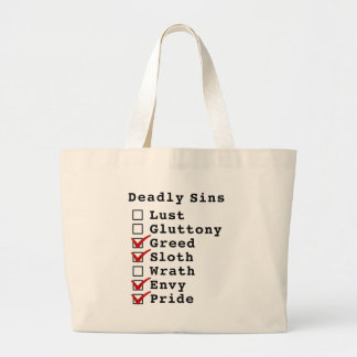Seven Deadly Sins Checklist (0011011) Bag