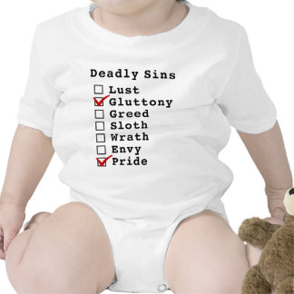 Seven Deadly Sins Checklist (0100001) Rompers