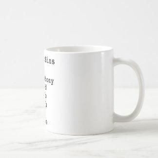 Seven Deadly Sins Checklist (0101001) Basic White Mug