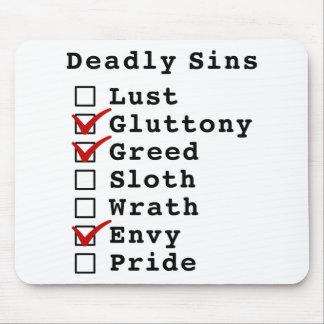 Seven Deadly Sins Checklist (0110010) Mouse Pad