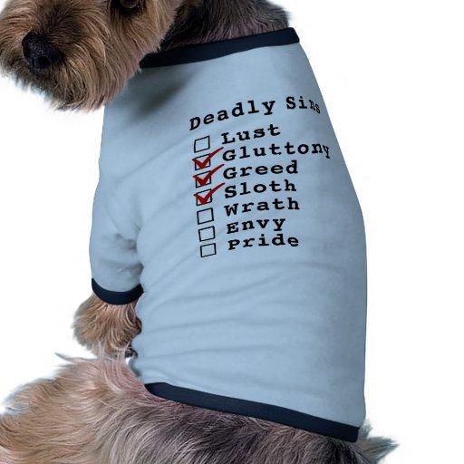 Seven Deadly Sins Checklist (0111000) Pet Shirt