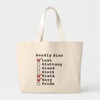 Seven Deadly Sins Checklist (1000110) Tote Bag