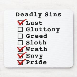 Seven Deadly Sins Checklist (1000111) Mouse Pad