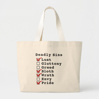 Seven Deadly Sins Checklist (1001101) Tote Bags