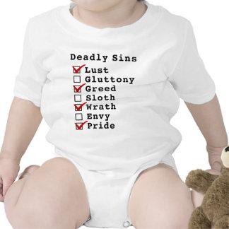 Seven Deadly Sins Checklist (1010101) Tee Shirt