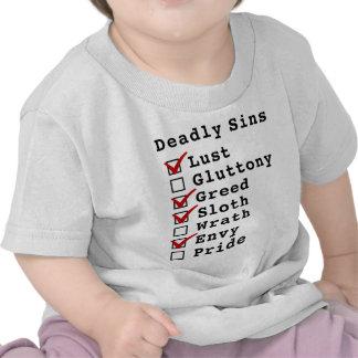 Seven Deadly Sins Checklist (1011010) Shirt