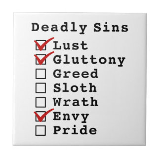 Seven Deadly Sins Checklist 1100010 Ceramic Tile