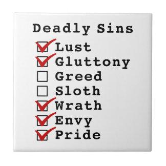 Seven Deadly Sins Checklist (1100111) Tile