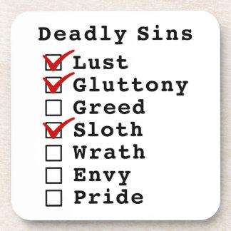 Seven Deadly Sins Checklist 1101000 Beverage Coasters