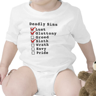 Seven Deadly Sins Checklist (1101000) Rompers