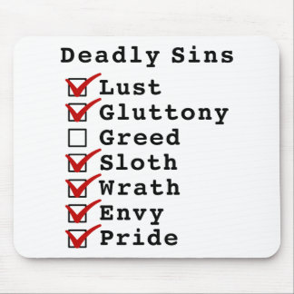 Seven Deadly Sins Checklist (1101111) Mouse Pad
