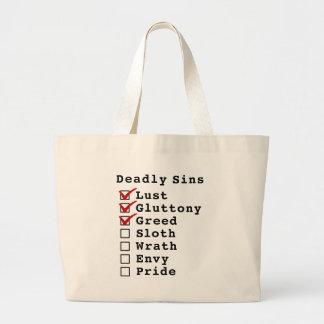 Seven Deadly Sins Checklist (1110000) Tote Bag