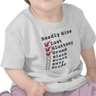 Seven Deadly Sins Checklist (1110000) Shirts
