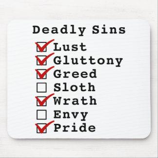 Seven Deadly Sins Checklist (1110101) Mouse Pad