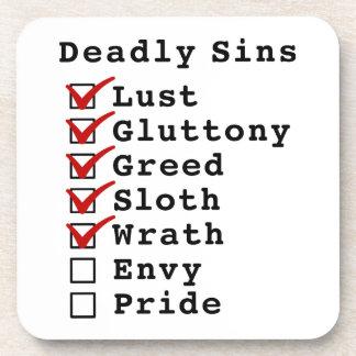 Seven Deadly Sins Checklist 1111100 Coaster