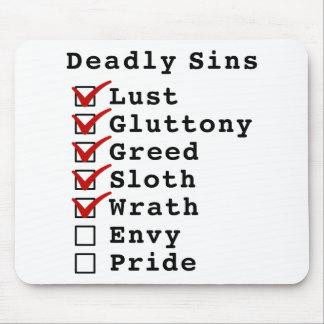 Seven Deadly Sins Checklist (1111100) Mouse Pad