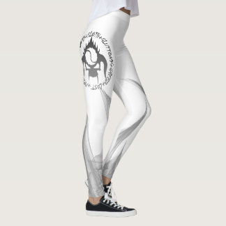 Seven deadly sins fire leggings black and white