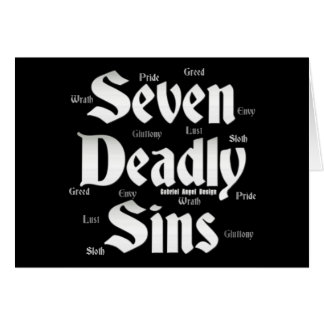 Seven Deadly Sins Logo Greeting Card
