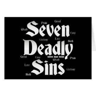 Seven Deadly Sins Logo Greeting Card