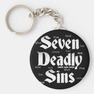 Seven Deadly Sins Logo Basic Round Button Key Ring