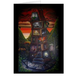 Seven Deadly Sins oil on canvas Greeting Card