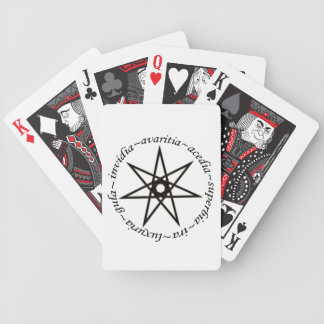 Seven Deadly Sins Poker Cards