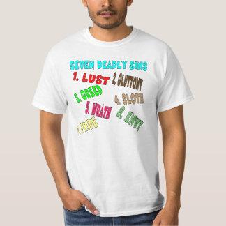 Seven deadly sins. t-shirt