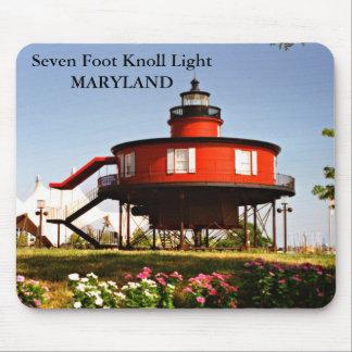 Seven Foot Knoll Light, Maryland Mousepad