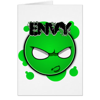 Seven Sins Faces - Envy Greeting Card