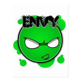 Seven Sins Faces - Envy Postcard