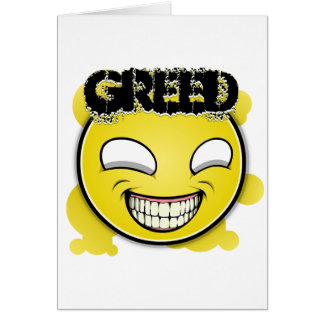 Seven Sins Faces - Greed Greeting Card