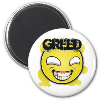 Seven Sins Faces - Greed Magnet