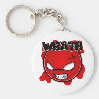 Seven Sins Faces - Wrath Basic Round Button Key Ring